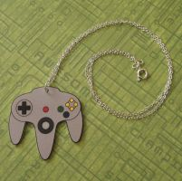 Nintendo 64 Controller Necklace by PlayBox-Designs