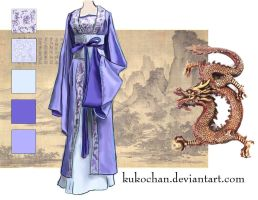 Han Dynasty Robe 2 by kukochan