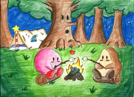 Kirby Campout by MichaelBaue
