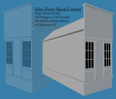 False-Front Shack Model by AzraelleWormser