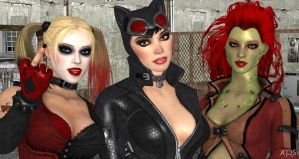 The Gotham City Sirens II by cablex452