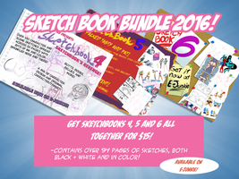 Sketch Book Bundle 2016 by Axel-Rosered