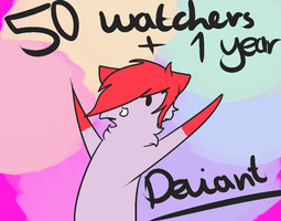 50 Wacthers + 1 Year Deviant by MayaArts