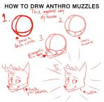 How To Draw Anthro Muzzles For Sonic Artists by Cynextra