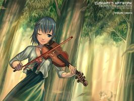 Violin by Cushart