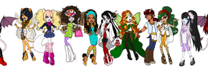 Monster High OCs by Yaoi-Bear