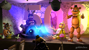 It's Party Time!! 500 WATCHERS!!  (SFM Wallpaper) by gold94chica