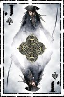 Jack Sparrow Playing Card by lbeeler92
