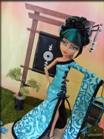 Kazumi* Custom Japanese Monster High Cleo de Nile by KrisKreations