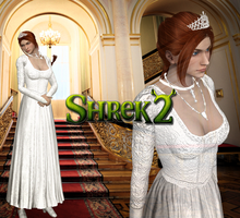 XNA - Shrek 2 - Princess Fiona In White DL by DeathsFugitive