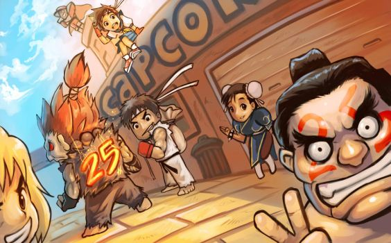 Street Fighter 25th aniversary by es-jeruk
