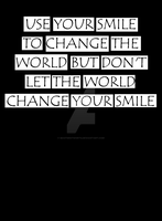 Change the world wit your smile! by Masterstshirts