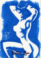 Betty Page skechcard by sobad-jee