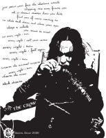 The Crow Graphic Illustration by DigitalDecayDesigns