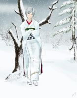 Icy Envy- In the Winter Forest by a-ka-neArt