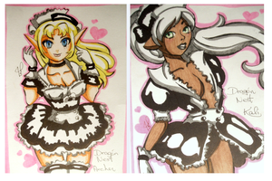 Dragon nest fan costume maid cafe archer and kali by JamilSC11