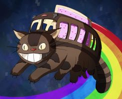 Nyan Catbus by Pandazoic