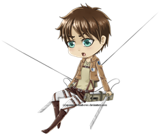 SnK Chibi :: Eren by queen-of-rainbows