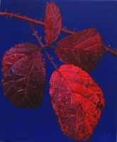 Autumnal Briar Leaves 2 by eastcorkpainter