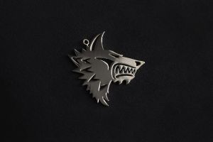 Warhammer40k Space Wolf pendant stainless steel by Snoopyc