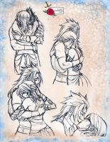 Terra x Aqua sketch page by Lady-Valesya