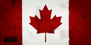 HD Grunge Canadian Flag LARGE by bbboz