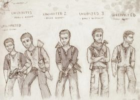Uncharted Serie : Nathan Drake by Galhaad