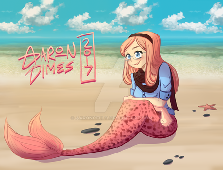 Hipster Mermaid ? by AaronCello