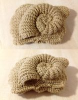 Consult the crocheted Helix Fossil!
