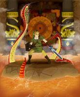 Skyward Sword Lava Battle by TheCongressman1