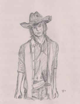 Chandler Riggs as Carl Grimes by Gossamer1970
