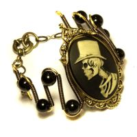 Steamgoth Bracelet - Top Hat Skeleton Gentleman by CatherinetteRings