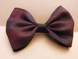 Garnet Hair Bow by XiaAmane