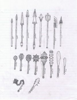 Weapon Sketches 2 by Baltean