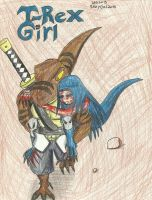 T-Rex Girl Manga Cover: After the Bloody Battle by RexyGal