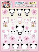 Panda Sticker Sheet by Fluffntuff
