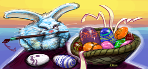 Happy Easter by marvisionart