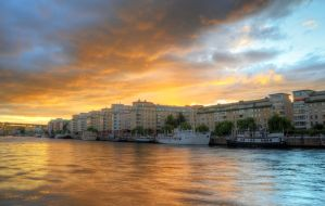 Harbor Sunset by HenrikSundholm