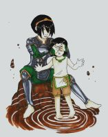 avatar: Toph and Lin by griffon-rider-Ann