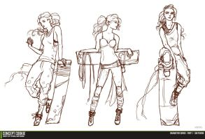 Female Character Series - Sketching the Outline by ConceptCookie