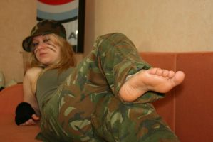Hot Soldier 011 by foot-portrait