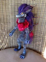 Shiny Zoroark Pokemon Art Doll (Posable) by AmethystCreatures