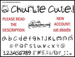 Font Churlie Cute by xElectricxDoll-x3o