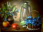 Still life with lamp by Ainaven