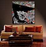 John Wayne Abstract Paintings Art Modern PRINTS by robertrpaintings
