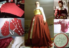 1570's English Court Gown WIP by larrissma