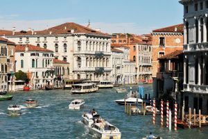 Venice - traffic on the Grand Canal 1 by wildplaces