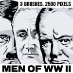 Men of WW II Photoshop brushes - hi res by Brushportal