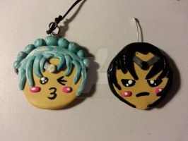 Chibi keychains for Sailor Darkness by Unisamas