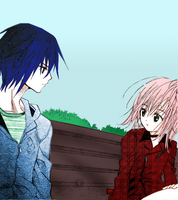 Amu x Ikuto Manga Color Over by Honey10001
